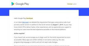 Unity Android出力を64Bitに対応させる
